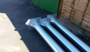 Fabricated CCTV poles with galvanised finish