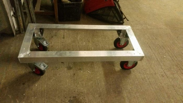 aluminium tig welded trolley