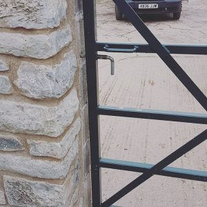 Custom Fabricated Gate Somerset close up