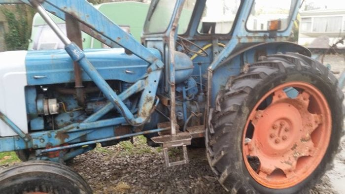 Fordson Tractor with MIG Welded step Somerset