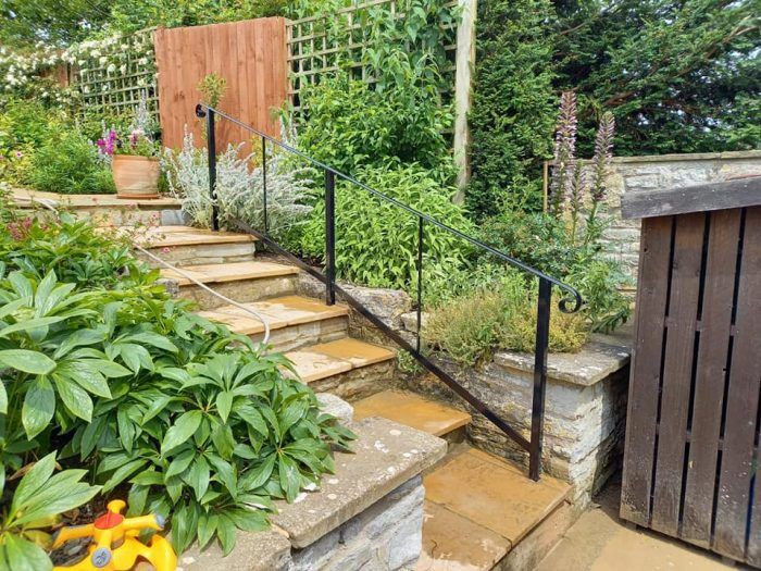 garden handrail installed butleigh near glastonbury