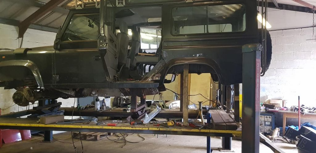 Land Rover 110 Vehicle Repairs at SAS Welding Services in Glastonbury