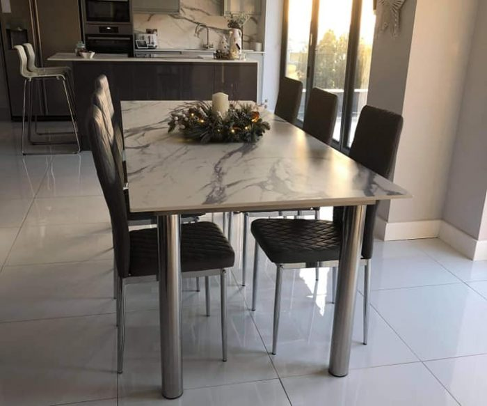 stainless steel table fabricated by SAS Welding Services