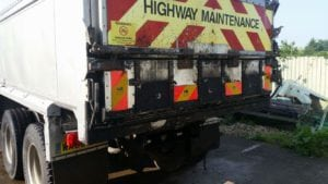 tipper lorry before repair