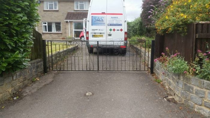 Mobile Welding van fixing gates