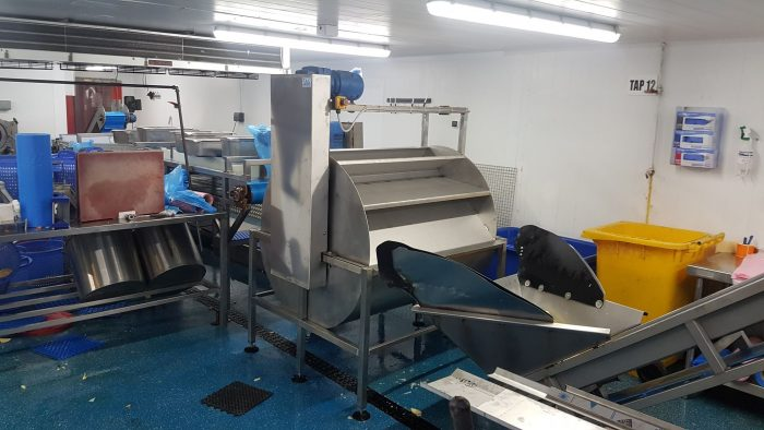 Potato Cleaning Machine Fabricated by SAS Welding Services and Installed in Bristol