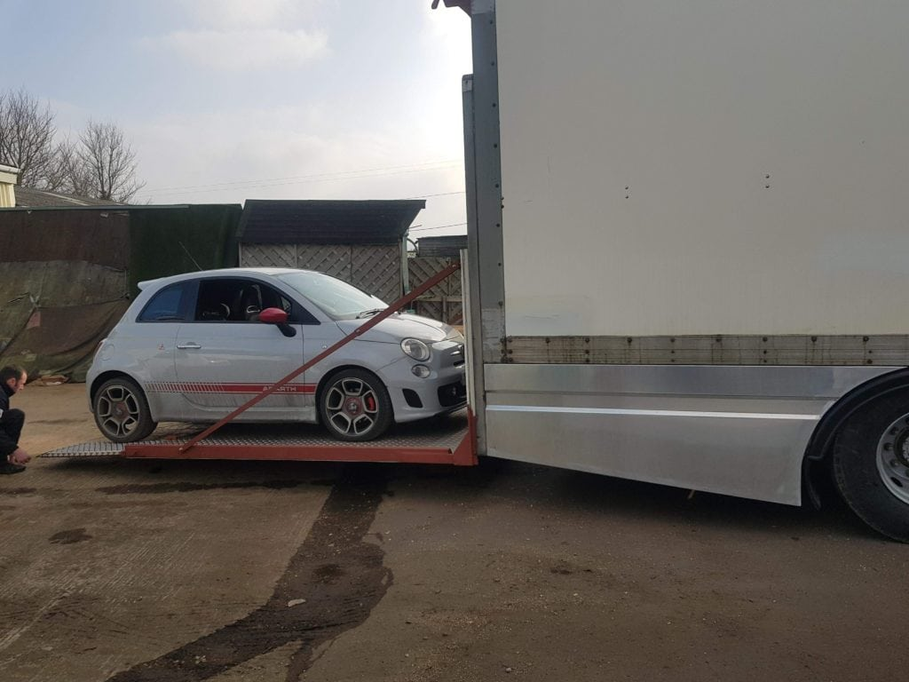 SAS Custom Fabricated Lorry Side Skirts for Racing Truck