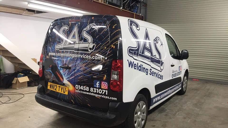 SAS Welding Services Mobile Welder Van in Glastonbury, Somerset