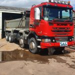 scania tipper tail board hinges fixed glastonbury, somerset
