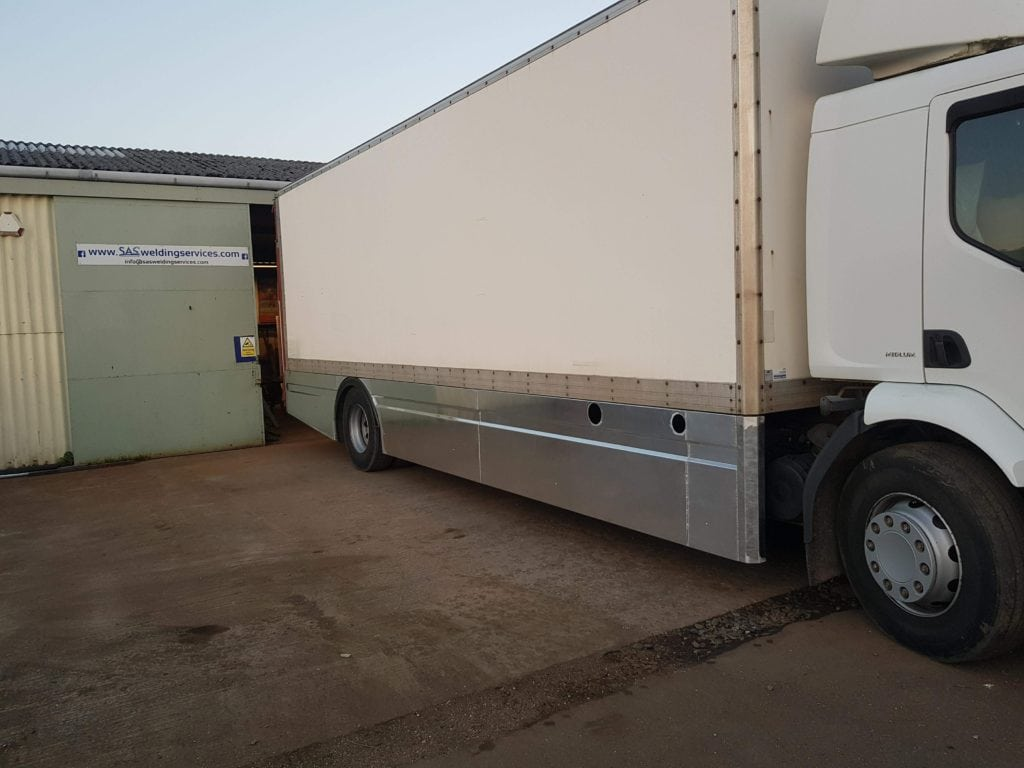 TIG Welded Lorry Side Skirts fabricated in Glastonbury