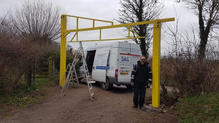 Steel Fabricated Car Park Barrier at Curry Rivel in Somerset