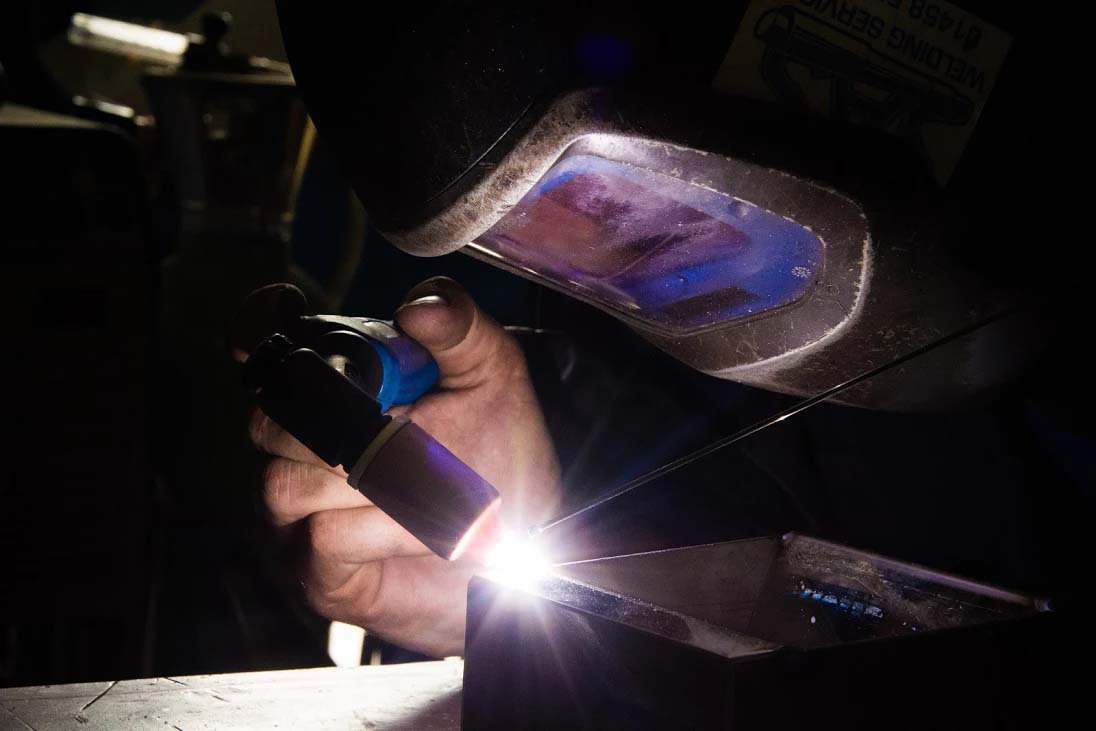 TIG Welder in Glastonbury Welding Workshop