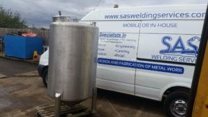 TIG Welders Somerset Water Tank