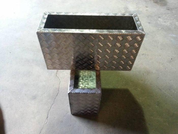 Bespoke aluminium plant pots