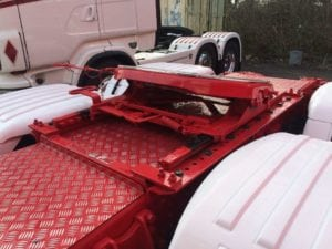 Red custom chassis infill catwalk Somerset